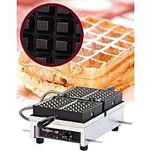 Eurodib Wecdbaas, Belgian Waffle Maker, Single W/ 180 Opening, (2) 4 Inch X 6 Inch Capacity