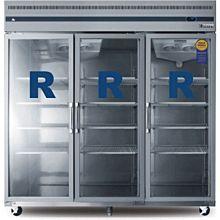 "Everest ESGR3A-OS 75"" Three Glass Door Reach-In Refrigerator (NEW IN BOX OVERSTOCK)"