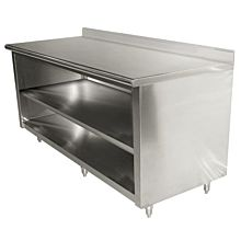 "Enclosed Worktable 24""D x 60""L Stainless Steel with 5"" Backsplash"