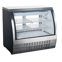 """Universal FCI-48-SC 48"""" Refrigerated Deli Meat Display Case, Curved Glass, Stainless Steel"""