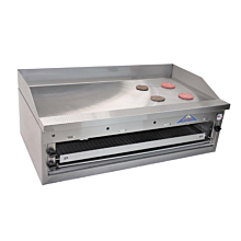 "Comstock-Castle FHP48-48B 48"" Commercial Countertop Gas Griddle with Manual Controls - 90,000 BTU"