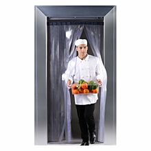 "Himi FlexCool FC2000 96""H x 37""W Double Layer Commercial Walk-In Cooler/Freezer PVC Strip Curtain"