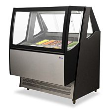 "Omcan FR-CN-1200-D 48"" Refrigerated Ice Cream Display Showcase"