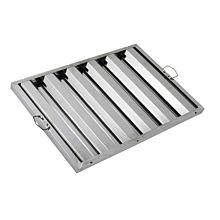 "Global FSS2516 16"" Commercial Stainless Steel Range Hood Grease Filter"