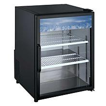 """24"""" Countertop Swing Door Merchandising Refrigerator - Black"""