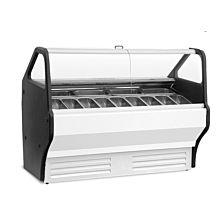 "Universal GELATO8 40"" 8 Pan Gelato Ice Cream Dipping Cabinet Display Freezer"