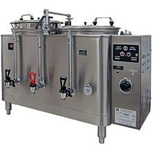Grindmaster 7443(E) Twin Coffee Urn w/ 10 gal/Liner Capacity, Automatic, Fresh Water Heat Exchange, 120/208v/1ph