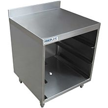 "Prepline GRSU-2124 24"" Glass Rack Storage Unit with Flatboard Top"