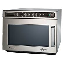 "Amana HDC212 17"" Heavy Volume 2100 Watts Commercial Compact Microwave, 208-240V"