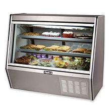 "Leader HDL48M 48"" Refrigerated High Raw Meat Deli Case with Gravity Coil Refrigeration"