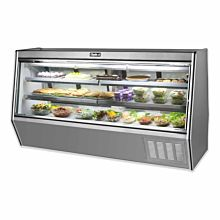 "Leader HDL96M 96"" Refrigerated High Raw Meat Deli Case with Gravity Coil Refrigeration"