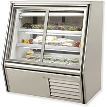 """60"""" Refrigerated High Deli Case, Sliding Front & Rear Glass Doors"""