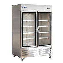 "IKON IB54FG 54"" Two Glass Door Upright Bottom Mount Reach-In Freezer, 49 cu. ft."