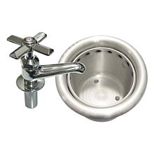 "Global IDWB-4 7"" Ice Cream Dipper Well and Faucet Set"