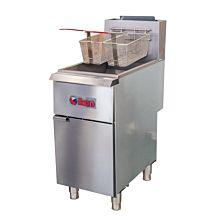 Ikon IGF-35/40-LP 40 lb. Liquid Propane Millivolt Control 3-Tube Floor Fryer - 90,000 BTU