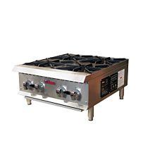 "Ikon IHP-4-24 24"" Gas 4 Burner Manual Control Hotplate - 100,000 BTU"