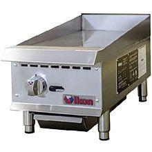 "Ikon IMG-12 12"" Gas 1 Burner Manual Control Griddle - 30,000 BTU"