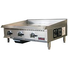 "Ikon IMG-36 36"" Gas 3 Burner Manual Control Griddle - 90,000 BTU"