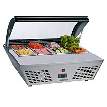 """Marchia MTRS6 30"""" Refrigerated Countertop Food Display - Open Lid"""