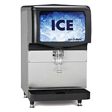 "Ice-O-Matic IOD150 22"" 150 lb. Countertop Push Lever Ice Dispenser Machine"