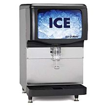 "Ice-O-Matic IOD200 30"" 200 lb. Countertop Push Lever Ice Dispenser Machine"