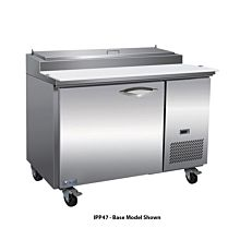 "IKON IPP47-2D 47"" One Door Refrigerated Pizza Prep Table, 6 Pans, Two Drawer"