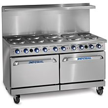 "Imperial IR-10-E 60"" Restaurant Electric Range Oven Combination (10  Burners)"