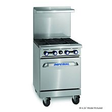 """Imperial IR-2-G12 24"""" Gas Restaurant Range with 12"""" Griddle and 2 Burners with Standard Oven"""