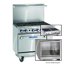 """Imperial IR-4-S18-XB 36"""" Gas Restaurant Range with 4 Extra Wide Burners, and Open Cabinet"""