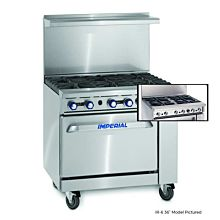 """Imperial IR-4-S18 36"""" Gas Restaurant Range with 4 Extra Wide Burners and Standard Oven"""