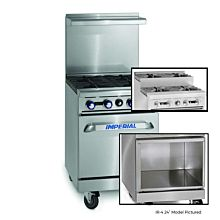 """Imperial IR-4-SU-XB 24"""" Gas Restaurant Range with 2 Open Burners, 2 Step-up Open Burners and Open Cabinet"""