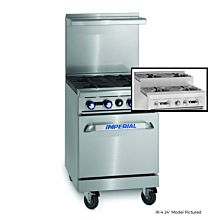 """Imperial IR-4-SU 24"""" Gas Restaurant Range with 2 Open Burners, 2 Step-up Open Burners and Standard Oven"""