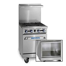 """Imperial IR-4-XB 24"""" Gas Restaurant Range with 4 Burners and Open Cabinet"""