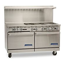 """Imperial IR-6-G24-C 60"""" Stainless Steel Gas Pro Series Convention Oven"""