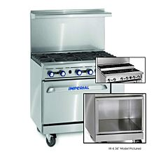 """Imperial IR-6-SU-XB 36"""" Gas Restaurant with 6 Burners and Open Cabinet"""