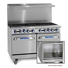 """Imperial IR-8-C-XB 48"""" Gas Restaurant Range with 8 Open Burners, 1 Convection Oven, and 1 Open Cabinet"""