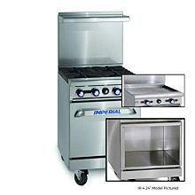 """Imperial IR-G24-XB 24"""" Gas Restaurant Range with 24"""" Griddle and Open Cabinet"""