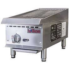 "Ikon IRB-12 12"" Gas 1 Burner Manual Control Radiant Broiler - 35,000 BTU"