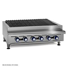 """mperial IRB-36 36"""" Gas Countertop Charbroiler"""