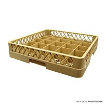 """Global JSGR-16 20"""" 16 Compartment Glass Rack"""