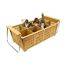 """Global JSGR-8FB 20"""" Commercial 8 Compartment Cutlery Basket"""