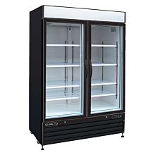"Kool-It KGF-48 53"" Double Glass Door Freezer, 48-Cu ft"