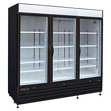 "Kool-It KGF-72-DV 81"" Triple Glass Door Freezer, 72-Cu ft"