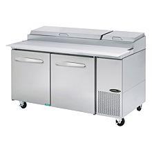 """Kool-It KPT-67-2 67"""" Refrigerated Pizza Prep Table"""