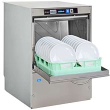 Lamber F94DYDPS 30 Rack/Hr Undercounter Dishwasher, High Temperature Sanitizing w/ Booster & Drain Pump
