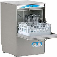 Lamber S480EKDPS 30 Rack/Hr Undercounter Glasswasher, High Temperature Sanitizing w/ Booster & Drain Pump