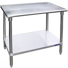 """SG3072 - 30""""D x 72""""L Stainless Steel Work Table w/ Under Shelf"""