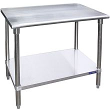 """SG2430 - 24""""D x 30""""L Stainless Steel Work Table w/ Under Shelf"""
