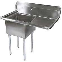 "39"" 1 Compartment Sink with 18"" x 18"" Bowl & Right Drainboard"
