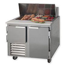 "Leader LM36 36"" Sandwich Prep Refrigerator, Bain Marie"